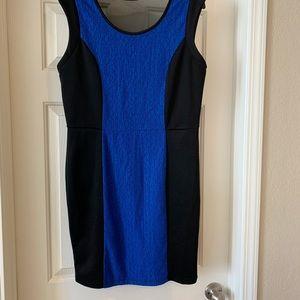 XL Forever 21 Blue Black Bodycon Dress